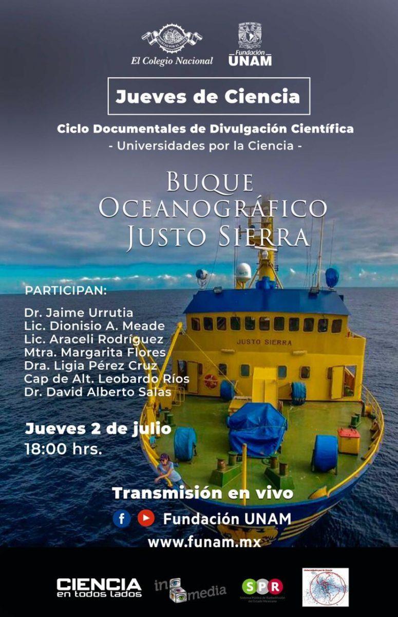 """Documental """"Buque Oceanográfico Justo Sierra"""""""